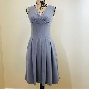 Calvin Klein | Gray A-Line Pleated Dress (2)